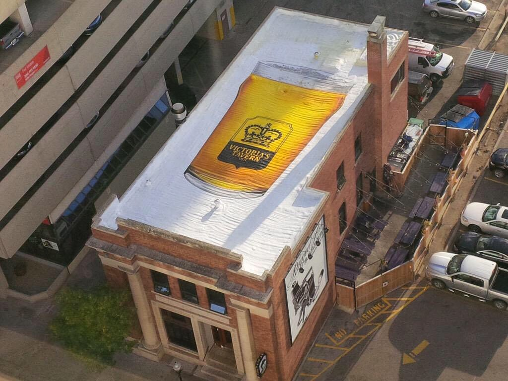Victoria's Tavern Roof Mural