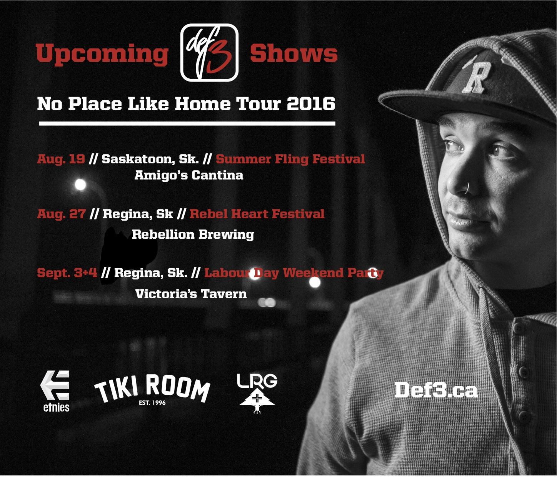 Def3 No Place like home tour flyer copy