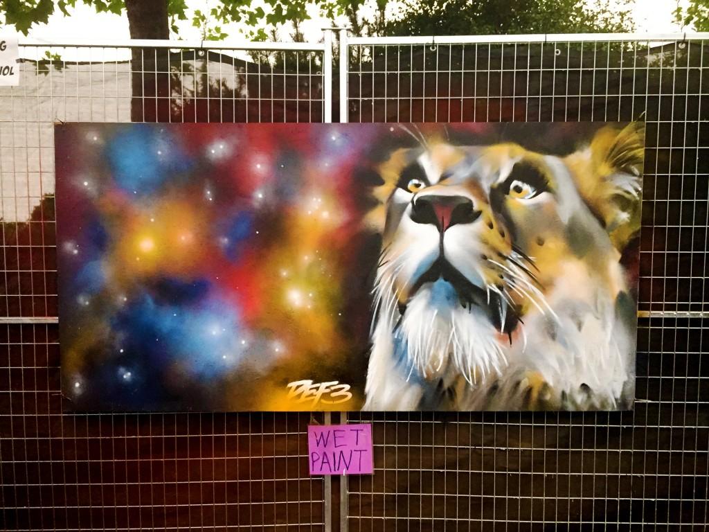 Space lion painting copy